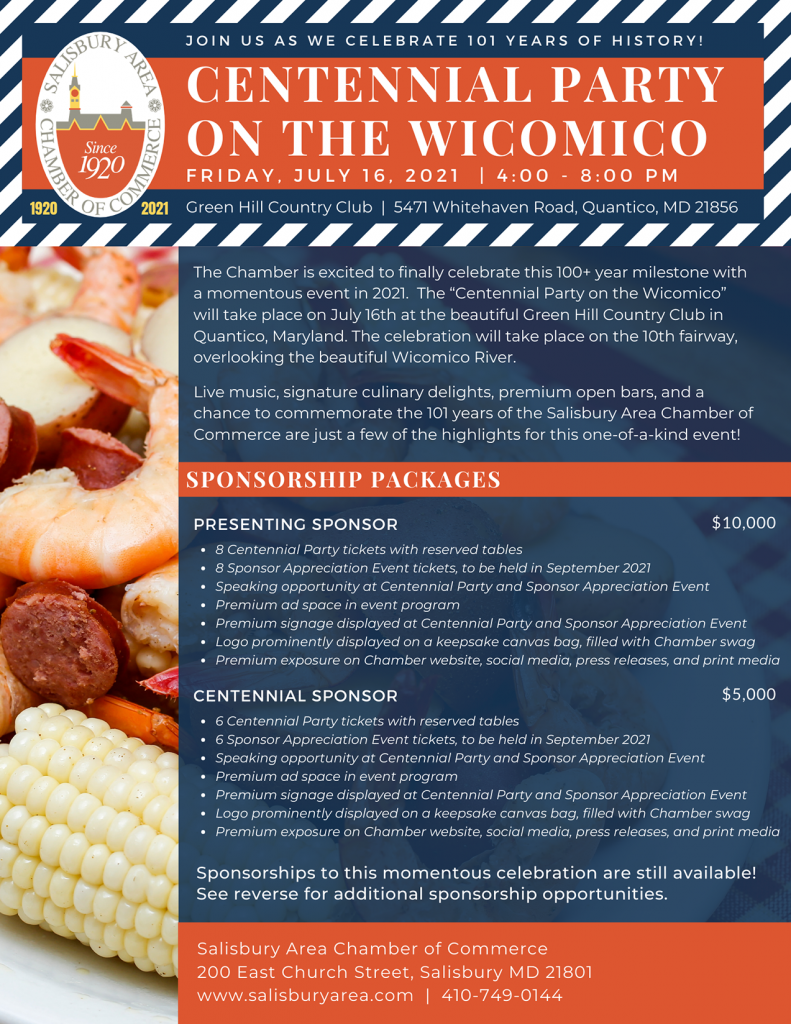 SACC Centennial Party on the Wicomico